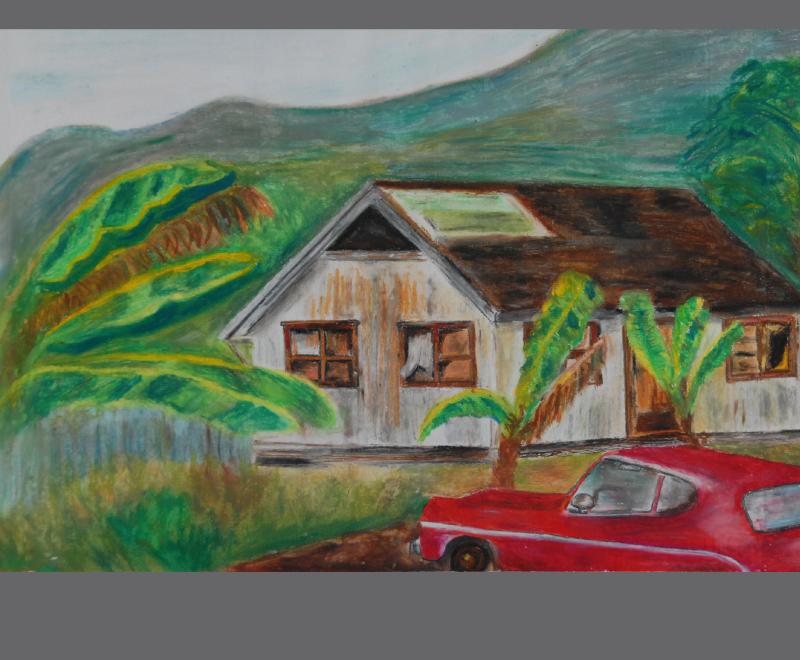 Hawaii-Zyklus 3/04<br />&Ouml;lkreiden – Format ca. 45 x 32 cm, Privatbesitz