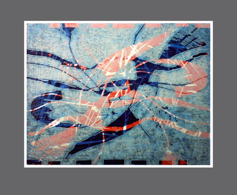 Feentanz<br />mehrfarbiger Holzschnitt – Format ca. 28 x 20 cm