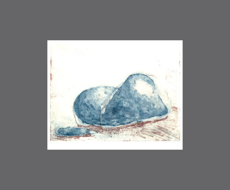 Stones<br />Radierung mit freier Ätzung und Aquatinta, 2 Druckplatten, Format ca. 18 x 13 cm