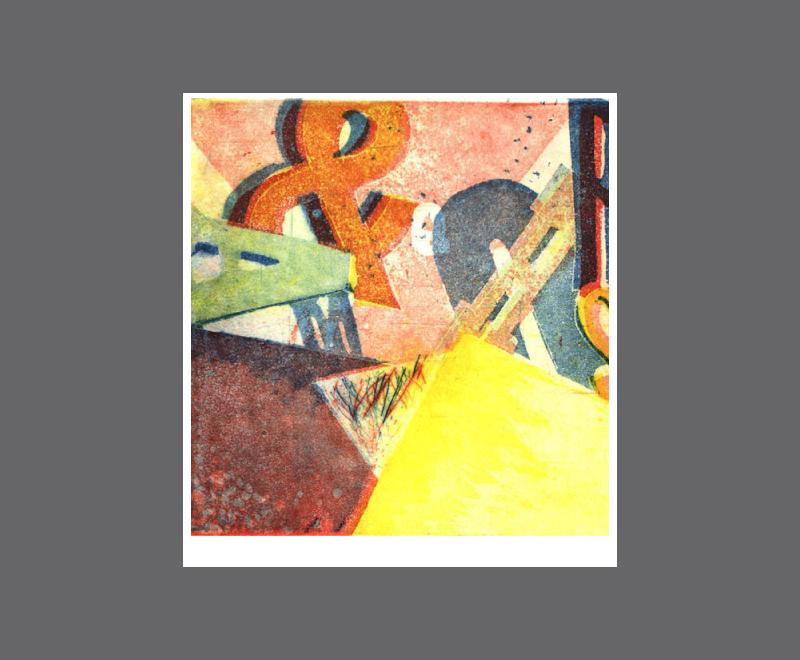 Typo<br />Aquatinta, 4 Druckplatten, Format ca. 14,5 x 14,5 cm