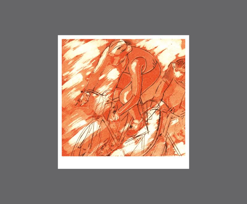 Radler, 1999<br />Aquatinta und Radierung, 2 Druckplatten, Format ca. 14 x 16 cm